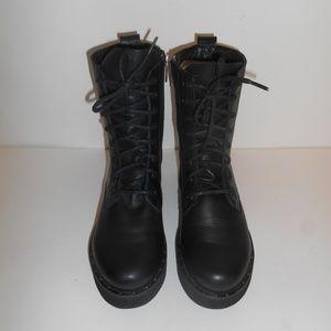 STEVE MADDEN Mini Stud Combat Boots